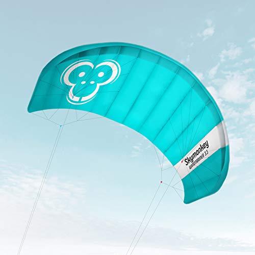 Skymonkey Windtrainer 3.3 Trainer-Kite/Lenkmatte 4-Leiner (inkl. Trainerbar) Ready 2 Fly- 330 cm...