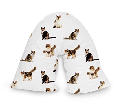 Adam Home V-Pillow Case 3D Digital Photo Print Orthopaedic V-Shaped Pillow Nursing Pregnancy Back Support Pillow Cover - Cats 01 Design Case Cover ONLY