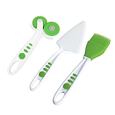 Curious Chef Children's 3-Piece Pie Making Tool Set
