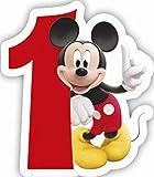 Procos 83149–Vela numerale Mickey Mouse Club House Número 1,...