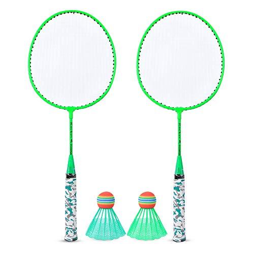 Ideaal Badminton Racket Set, Badminton Racket Premie Nylon Ijzer Legering Materiaal Badminton Rackets met Ijzerlegering