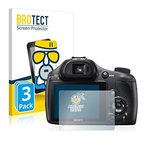 brotect Pellicola Vetro Opaca Compatibile con Sony Cyber-Shot DSC-HX400V (3 Pezzi) Protezione Schermo Anti-Riflesso Durezza 9H, AirGlass