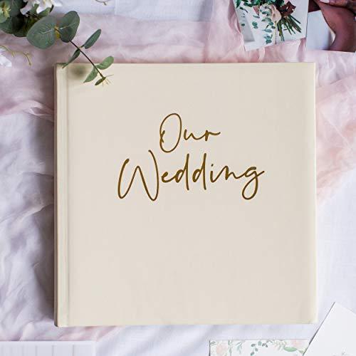 Your Perfect Day Wedding Photo Album Cream & Gold – Wedding Scrapbook...