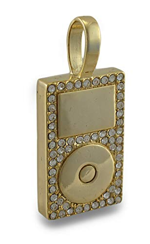 Best décor Tone Rhinestone Encrusted MP3 Player Pendant