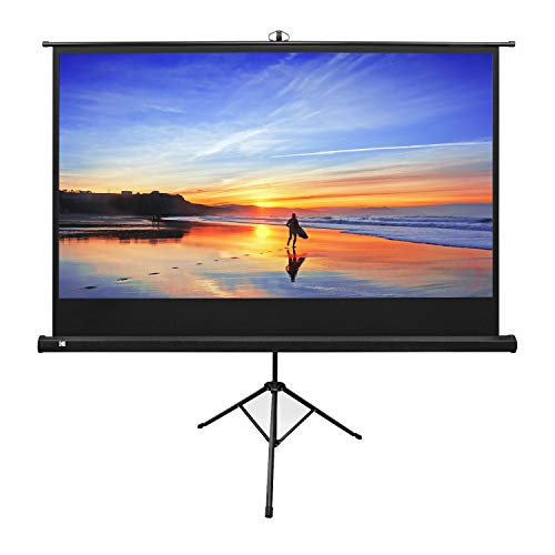 """KODAK 80"""" Projection Movie Screen Premium Portable Lightweight White 16:9 HD 4K Projector Screen, Adjustable Tripod Stand & Storage Carry Bag 