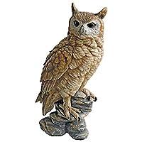 森の枝にとまる フクロウ梟 ふくろう 彫像 置物 彫刻インテリア オブジェ 書斎 梟カフェ パブ 会費室 図書館 ゲストハウス 贈り物(輸入品