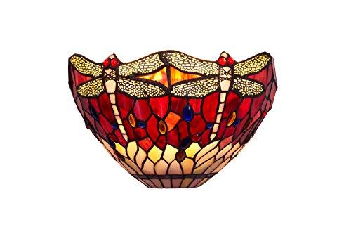 Ivintage Belle Rouge wandlamp, 31 x 20 cm, granaatrood