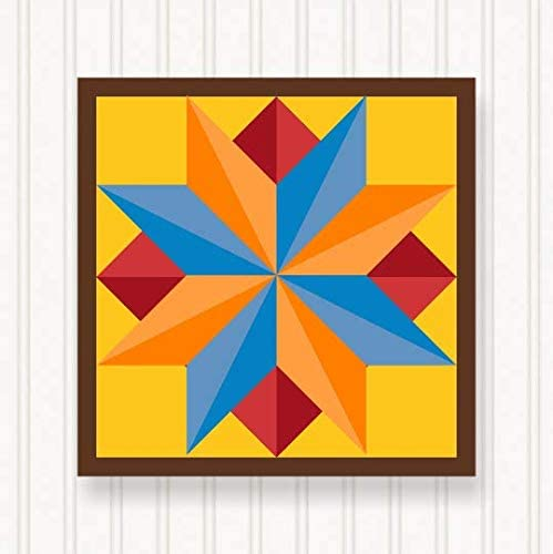 BQ034-01 Ranking Max 44% OFF TOP13 Barn Quilt Outdoor Sign - Colors 6 Hea Bright Sizes