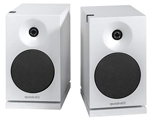 QUADRAL Platinum+ Two Weiss 2-Wege Bassreflex Regallautsprecher, Paar