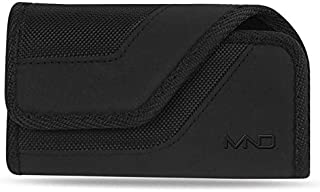 Horizontal Rugged Case Pouch for OnePlus 7 Pro, 7 Pro 5G, for Oppo Reno 5G, K3, A9x, A9, for RED Hydrogen One, w/Card Cash Holder (Fits w/a Slim Cover Case On)