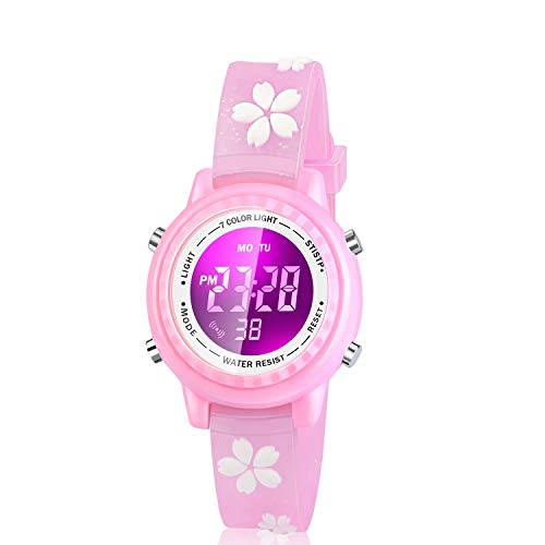Viposoon Gifts for 3 4 5 6 7 8 9 Year Old Girls, 3D Kids Waterproof Watch Toy for 4-8 Year Old Girls Birthday Gifts for 3-10 Year Old Girls