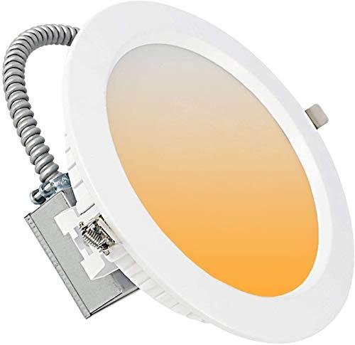 LED 8-Inch Commercial-Grade Recessed Lighting Fixture LED 8 Inch Commercial Downlight 24W 30/40/50K Changeable Dimmable 100-277V Hardwired Downlight Commercial Indoor LED Ceiling Light ETL 6 Pack