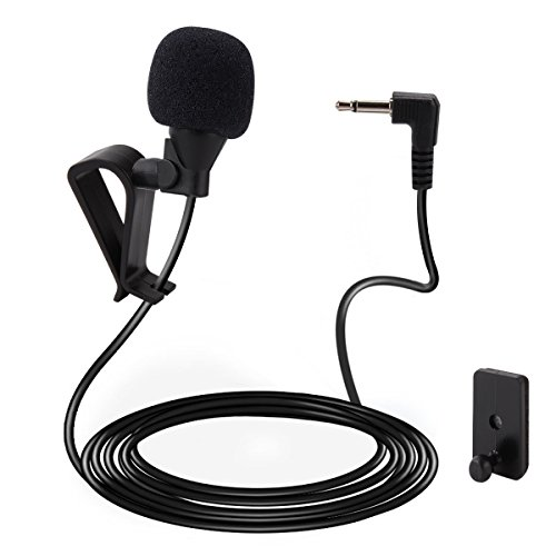 Galabox Mic 3.5mm Microphone External Assembly For Car Vehicle Head Unit Bluetooth Enabled Audio Stereo Radio GPS DVD