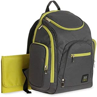 Baby Boom ( Gray and Green ) Spaces and Places Backpack Diaper Bag