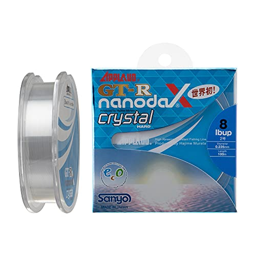 サンヨーナイロン ナノダックスライン アップロード GT-R nanodaX クリスタルハード 100m 3.5lb クリスタル...