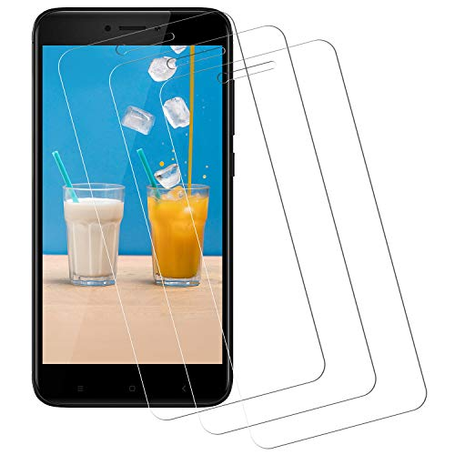 Miuphro Cristal Templado Compatible con Xiaomi Redmi 4X [3-Unidades], Protector de Pantalla Xiaomi Redmi 4X, [2.5d Borde Redondo][Fácil Instalación][Alta Definicion][9H Dureza]