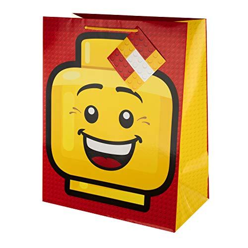 Große Geschenktüte von Hallmark – Lego Heads Design