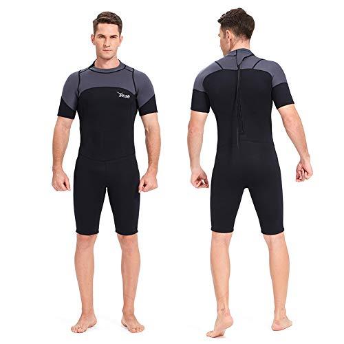 YRX Neopreno de 3 mm de neopreno de manga larga y corta, traje de buceo para hombre, cuerpo cerrado, buceo, surf, manga corta, XXL