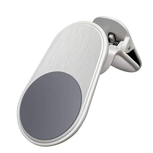 Xk9ykd Nieuwe GPS Accessoires Staande Clip Mount Magneet houder voor luchtventielen Car Phone Holder Magnetische ondersteuning, Eén maat, wit