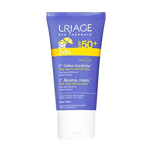 Uriage - Creme Minerale Tres Haute Protection Spf50+ Peaux Fragiles Bebe 50ml Uriage