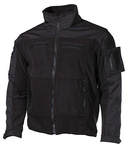 Fleece-Jacke, Combat, schwarz Größe: M