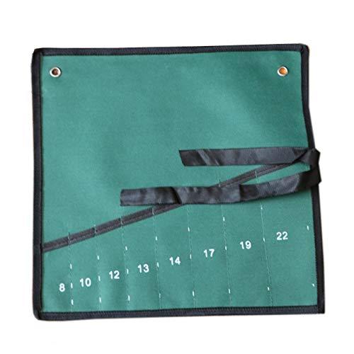 Juego de herramientas de fijación multifuncional de lona para bolsa de herramientas, bolsa de herramientas portátil, doble capa reforzada (8 ranuras)