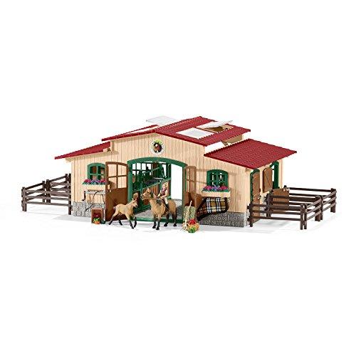 SCHLEICH SLH42195 - Pferdestall mit Pferden Spielzeug