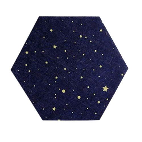 Gyratedream voelde zeshoek sterrenhemel Achtergrond Board DIY puzzel foto muur Huishoudelijke boodschap Board(19 x 22CM)