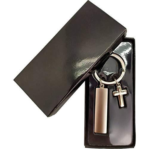 DISOK Lot de 20 porte-clés de première communion en forme de croix pour offrir à vos invités Boîtes de cadeau incluses
