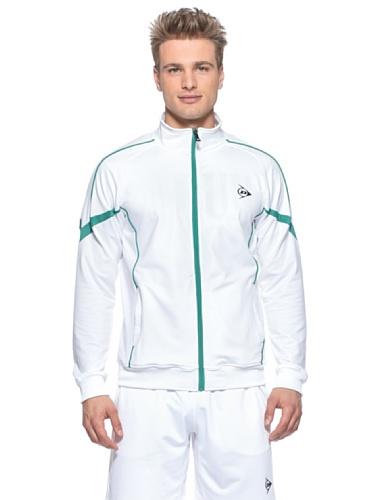 Dunlop Warm Up Herren Jacke FS14, - weiß und grün, XL