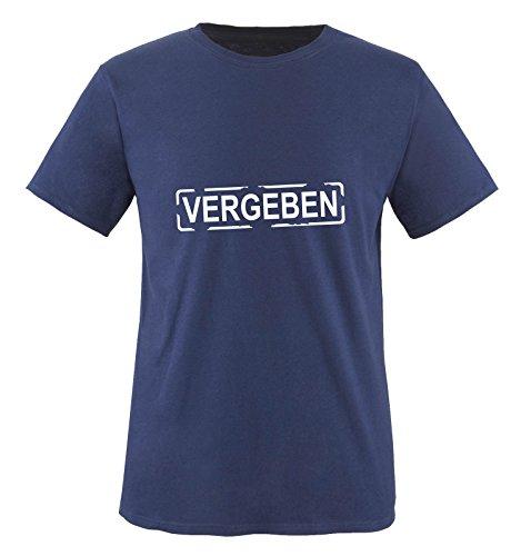 M&M-Shirts Je suis vergeben T-Shirt Taille S à XXL Medium Bleu - Bleu Marine