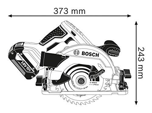 Bosch Professional GKS 18 V-57G Akku-Kreissäge, Sägeblatt-Ø 165 mm, Solo Version, L-BOXX, 1 Stück, 06016A2101 - 2