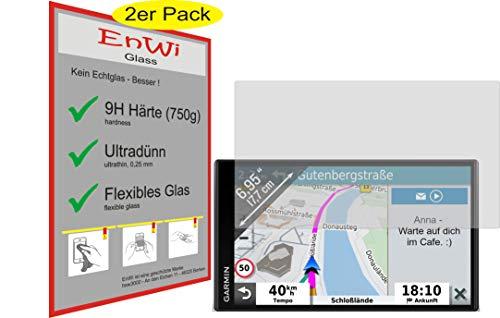 EnWi | 2X Panzer-Glas-Folie 9H Display-Schutz-Folie für Garmin DriveSmart 65 MT-D EU