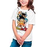 Camiseta Niña Manga y Anime - Dragon Ball, Bola de Dragón (Blanco, 7 años)