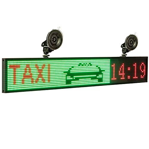 Leadleds 32' LED a todo color, programable para mensajes de trayectorio, uso en interiores para publicidad, empresas, escuela, tienda frontal, ventana de coche
