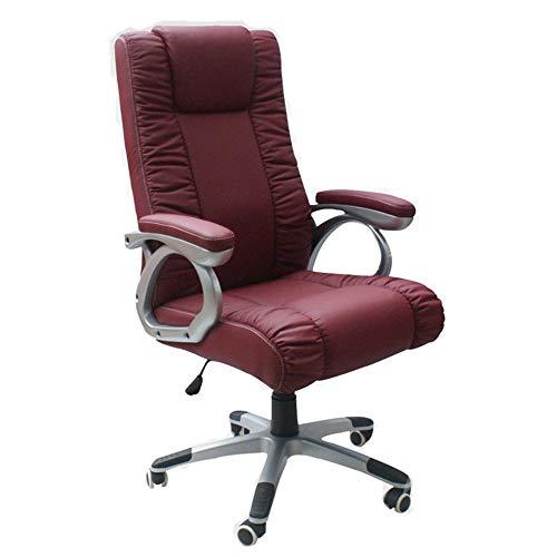 Draaistoel, stoel Home Office stoel leer computer stoel leder boss stoel draaistoel staal voet wijn rood