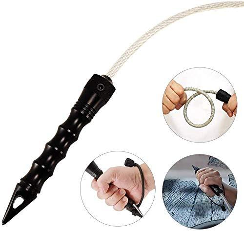 QYC Stinger Whip Selbstverteidigungsauto Notrettungswerkzeug Fensterbrecher Punch, Stingerpeitsche, Selbstverteidigung Peitsche, Auto-Fensterbrecher Lebensrettendes Rettungswerkzeug, Self Defence
