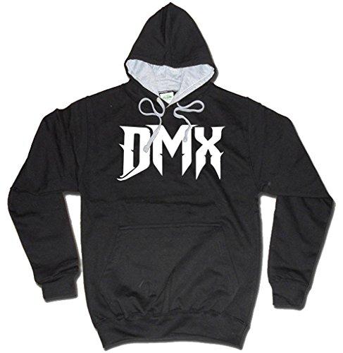 DMX Logo MP3Sudadera con Capucha Negro de Dibbs Negro Negro Small