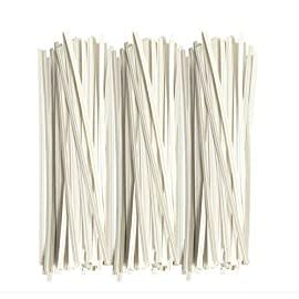 Twies 5 Inch Paper Twist Ties 200 Pcs | Reusable Bread Ties for Party Cello Candy Coffee Treat Bags Cake Pops - White 1 ⭐Economy Pack: Pack of 200 twist ties for bags, ample supply to meet multiple needs. Reusable tie, this one-time purchase will serve you for long ⭐Adequate Length: 5 inches twist tie, long enough to serve the purpose of tying tightly and does not open up at its own ⭐Durable: Made of premium quality paper with inner strong, non-breakable metal wire. Durable for every weather, use twisty ties for indoor and outdoor needs