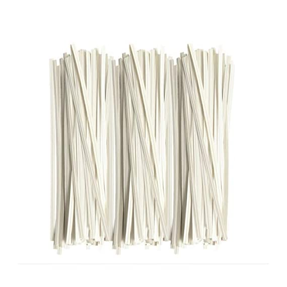 Twies 5 Inch Paper Twist Ties 200 Pcs   Reusable Bread Ties for Party Cello Candy Coffee Treat Bags Cake Pops - White 1 ⭐Economy Pack: Pack of 200 twist ties for bags, ample supply to meet multiple needs. Reusable tie, this one-time purchase will serve you for long ⭐Adequate Length: 5 inches twist tie, long enough to serve the purpose of tying tightly and does not open up at its own ⭐Durable: Made of premium quality paper with inner strong, non-breakable metal wire. Durable for every weather, use twisty ties for indoor and outdoor needs