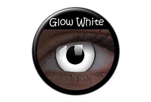 Halloween Kontaktlinse Lustige Linse UV Glow White Jährliche Einweg 14 mm stärke 0.00 von ColourVUE