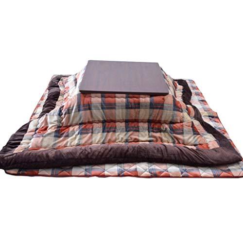 Kaffeetische Kotatsu Multifunktionaler Heiztisch Tatami-Couchtisch Am Herd Warmer Innentisch Klappbarer Niedriger Betttisch Beistelltische (Color : Orange, Size : 75 * 75cm)