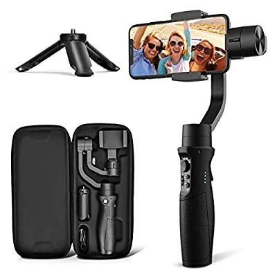 3-Axis Gimbal Stabilizer for iPhone 11 PRO MAX X XR XS Smartphone Vlog Youtuber Live Video Record with Sport Inception Mode Face Object Tracking Motion Time-Lapse - Hohem iSteady Mobile Plus by Hohem Technology Co.