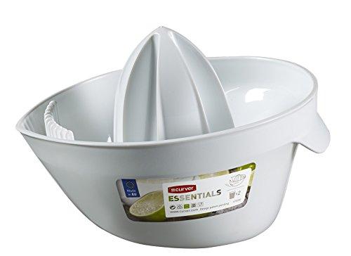 CURVER | Presse fruits essentials, Blanc, 20 x 15,5 x 12 cm, Plastique