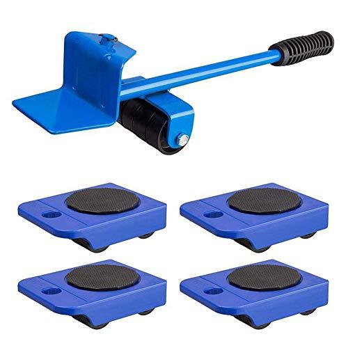 HKDJ-meubelset voor het veilig transporteren van meubels, wasmachine, belastbaarheid 150 kg per rol voor houten vloeren en tegelvloeren