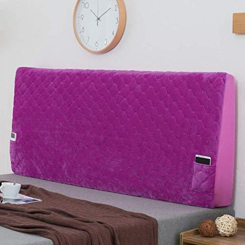 ZXDFG - Funda para cabecero, cojines de lectura, manta para cabecero de cama elástica, decoración del respaldo para cuna antipolvo de terciopelo de cristal