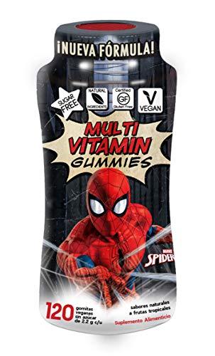 Spider-Man Multi-Vitaminas y Minerales Gummies   Sin Azúcar   Veganas   Ingredientes 100% Naturales   Gluten Free   120 Gomitas
