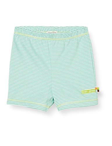 loud + proud Mädchen Striped Organic Cotton Shorts, Grün (Mint Min), (Herstellergröße: 62/68)