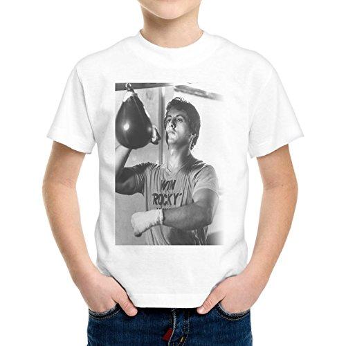 Camiseta Niño Niño Rocky Balboa Entrenamiento Pungiball Film -