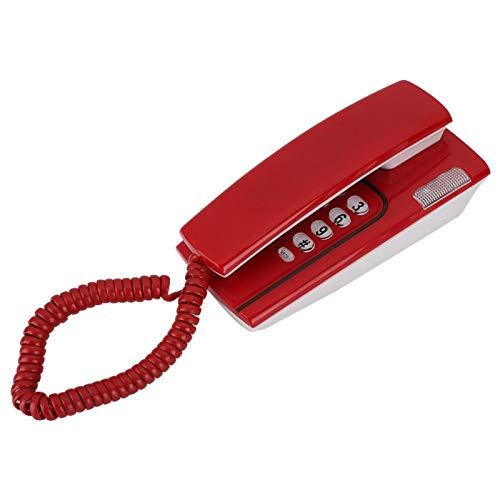 Mxzzand Función de Timbre/remarcación/Silencio/Pausa Práctico Mini teléfono N.Nic KX-T811 Teléfono Fijo confiable y Estable, para Oficina en casa(Red)